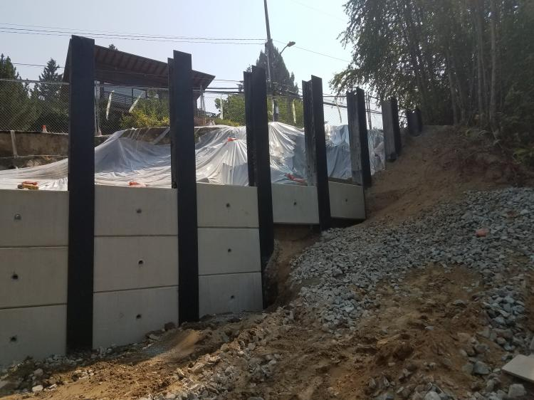 Shoring Posts For Concrete Walls : Sheet pile augercast steel shoring soldier
